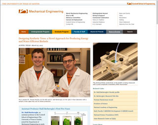 Mechanical Engineering story about biofuel research with synthetic plant materials